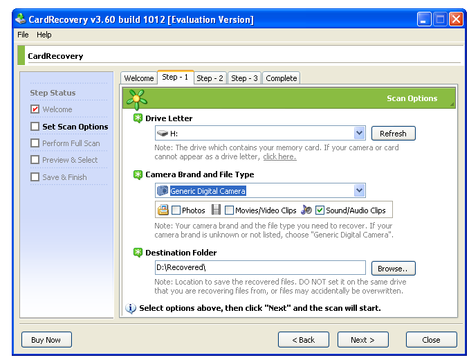 cardrecovery 6.10 cardrecovery - наиболее специализирован
