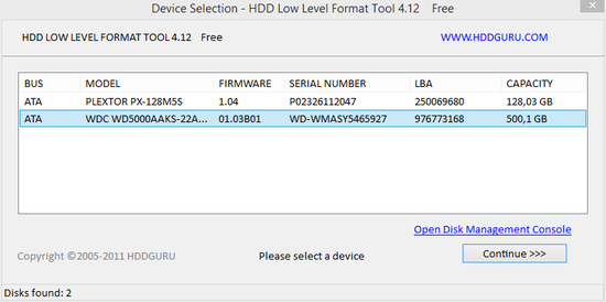 Прога hdd low level format tool