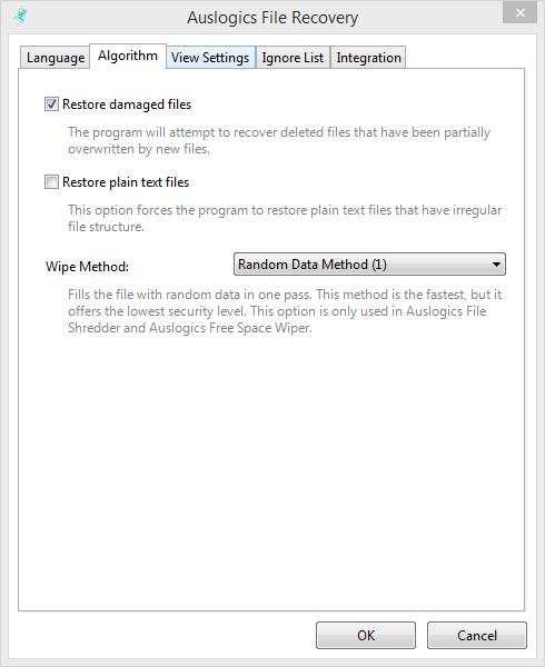 Выбор временного диапазона в проге Auslogics File Recovery