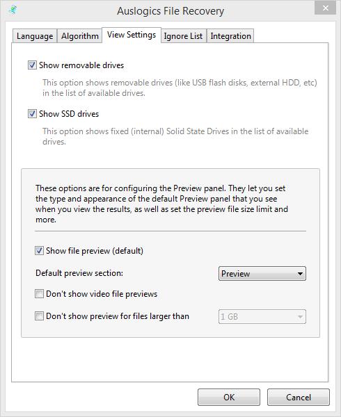 Опция вероятного восстановления поврежденных файлов после их форматирования