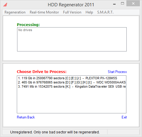 Hdd regenerator восстановление секторов