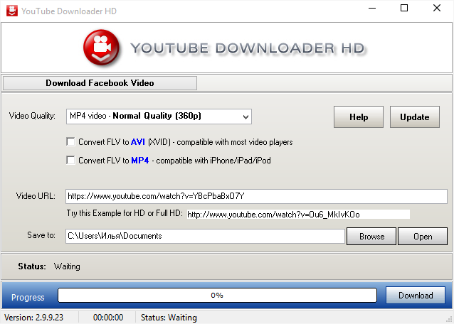 Программа для скачки видео с ютуба Youtube Downloader