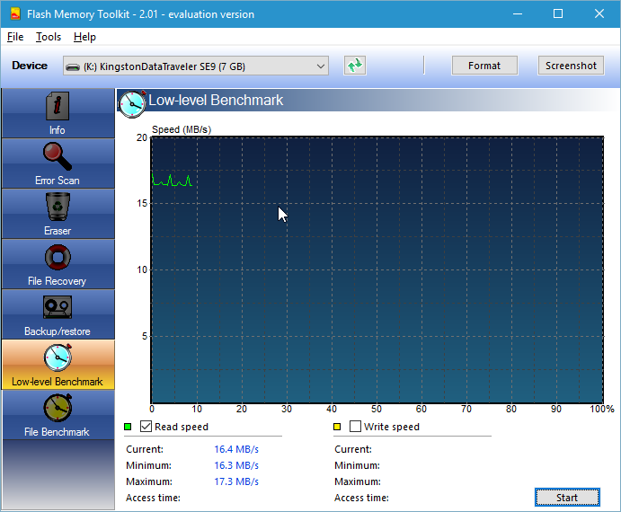 Программу проверки скорости флешки