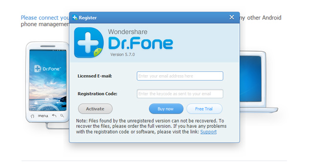 Dr Fone software for recovery