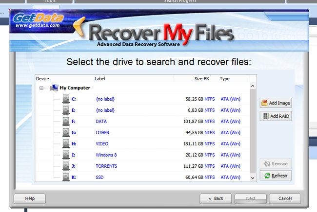 как легко восстановить flash память в Recover My Files