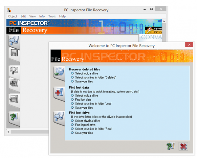 PC Inspector File Recovery: простота и легкость восстановления данных