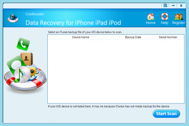 Coolmuster Data Recovery для iPhone